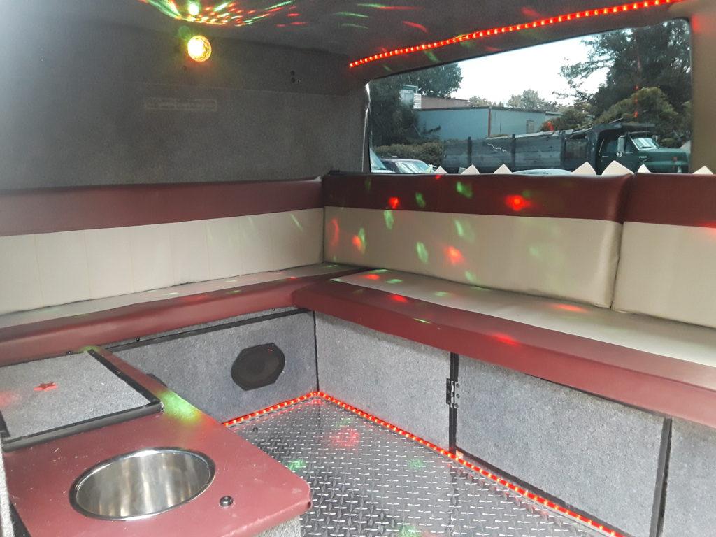 9 pack party van interior